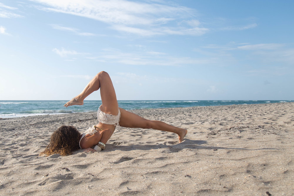 scorpion pose yoga photography beach