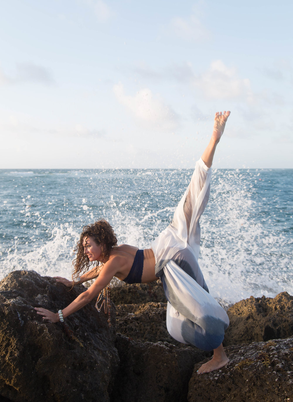 yoga photography on the beach