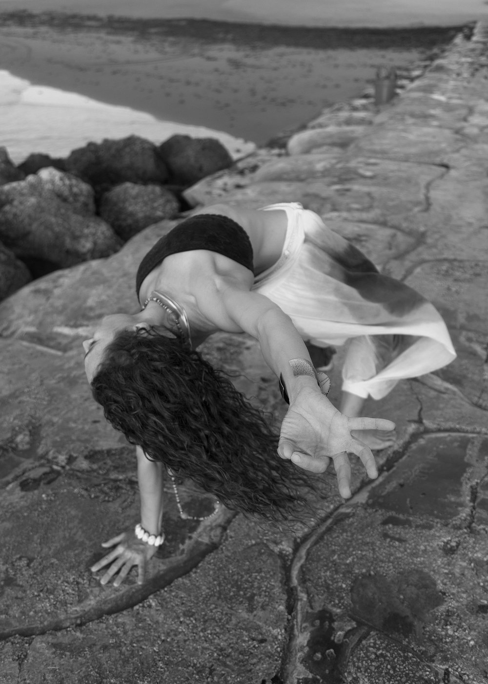 black and white yoga photography florida