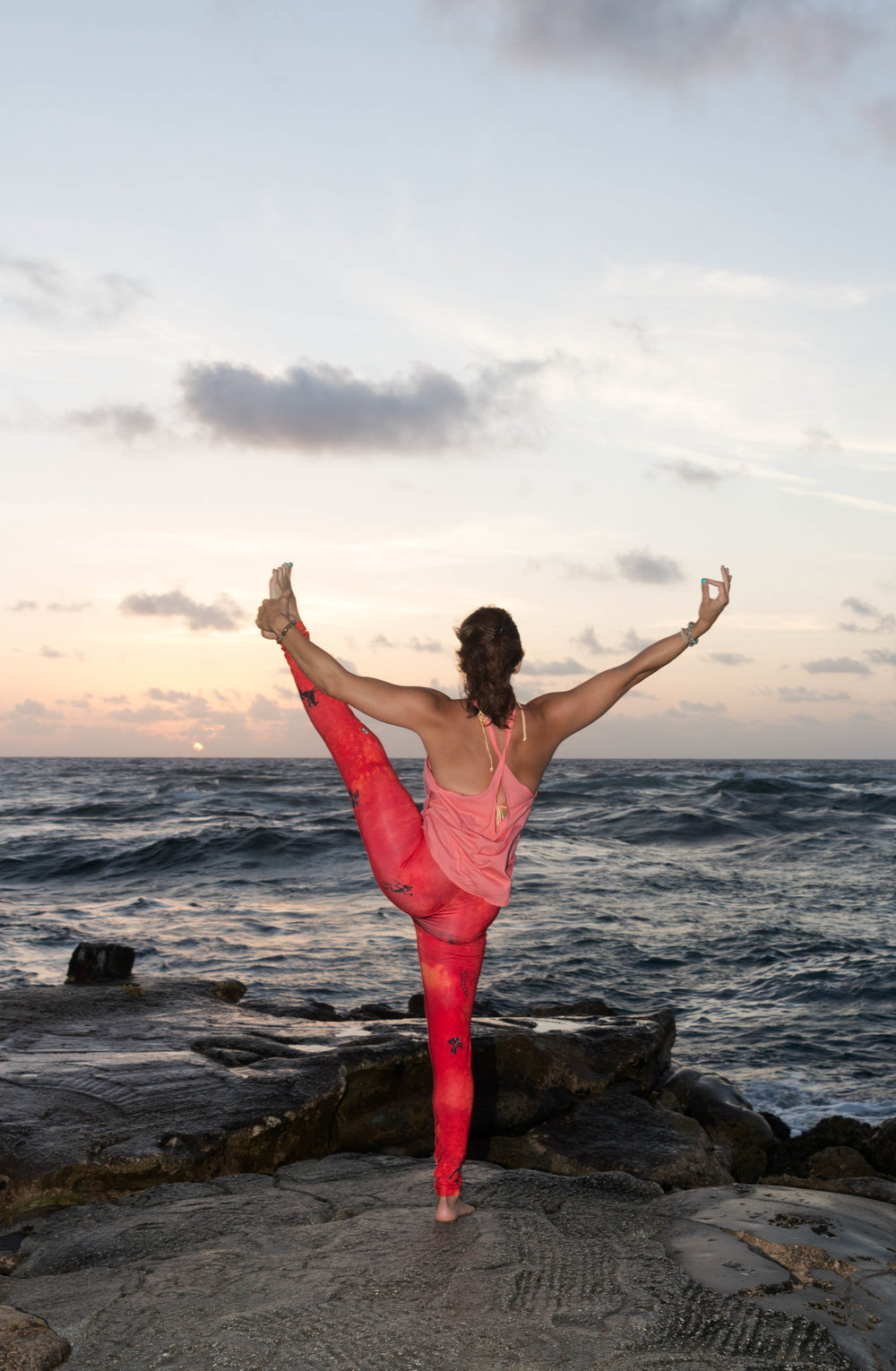 sunrise yoga photography on the beach