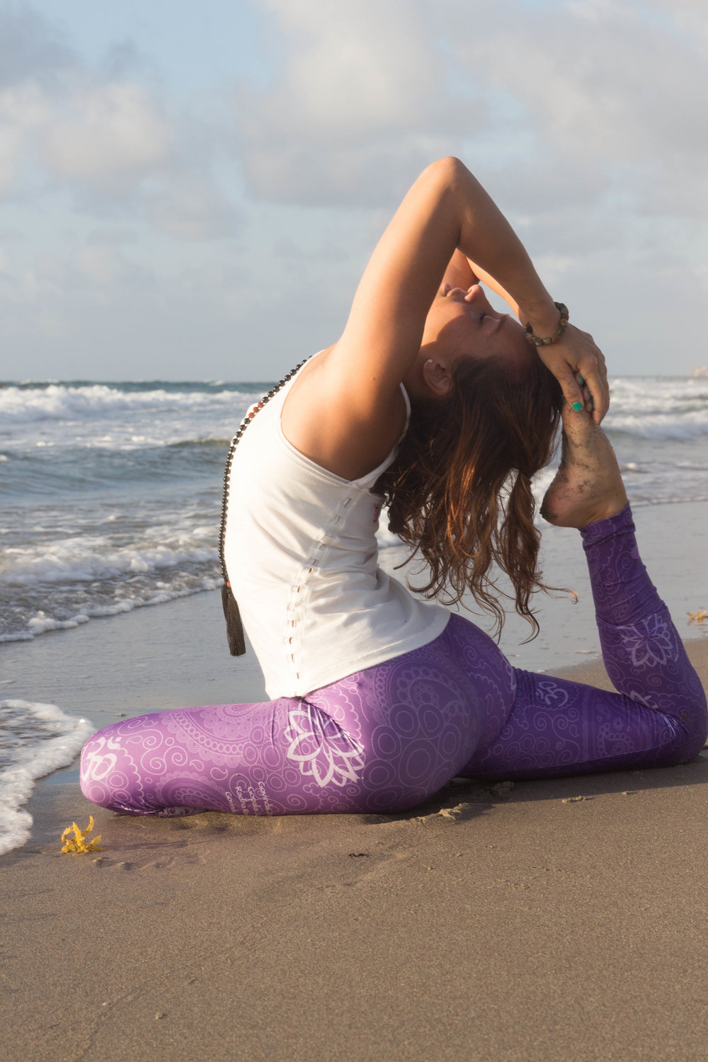 yoga photography beach