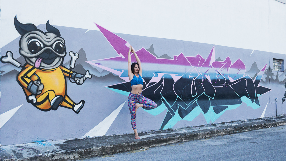 yoga photography graffiti