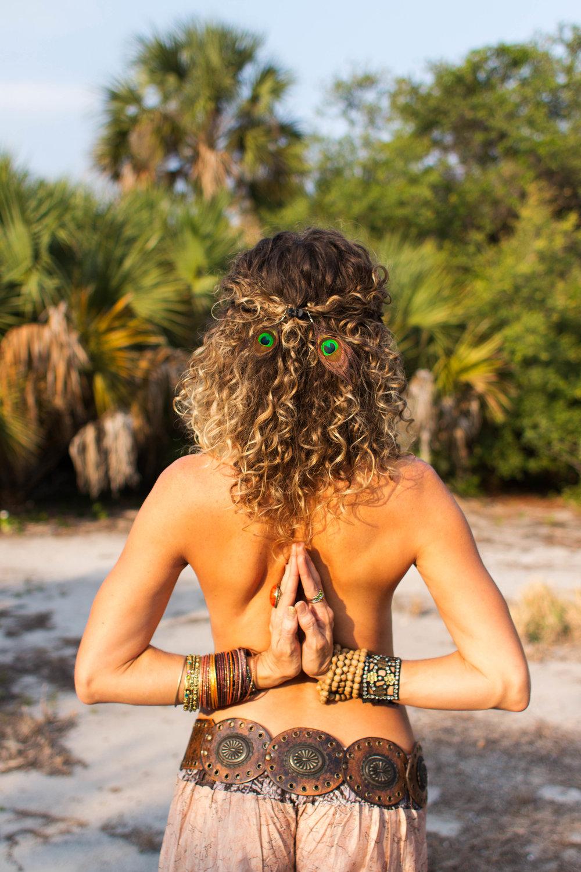reverse prayer asana