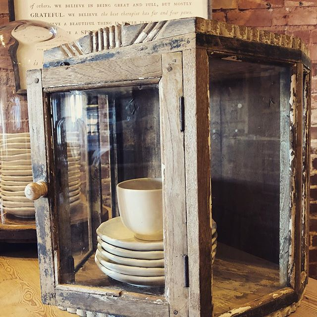 found and favorite... beautiful little hanging cupboard just in at Old Glory Denver!  #oldgloryantiques #oldglorystyle #denverantiques #southbroadwaydenver #foundandfavorite