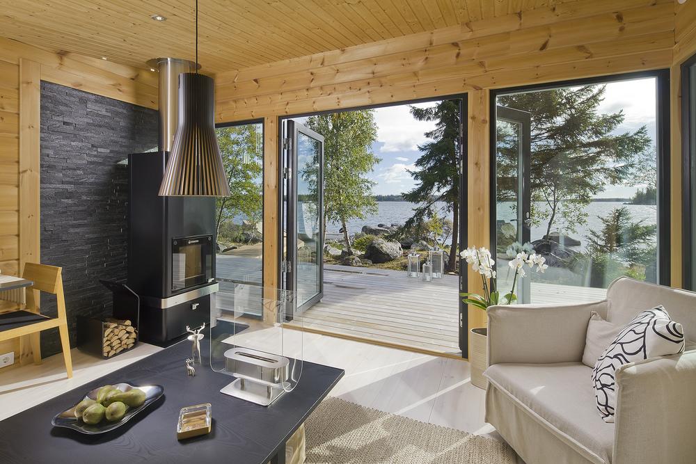 Деревянный дом Хонка в Финляндии