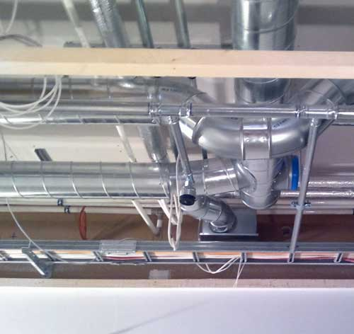 Разводка приточно-вытяжной вентиляции