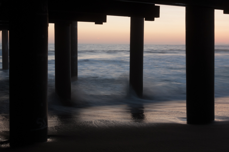 Sunset as seen from under the pier.