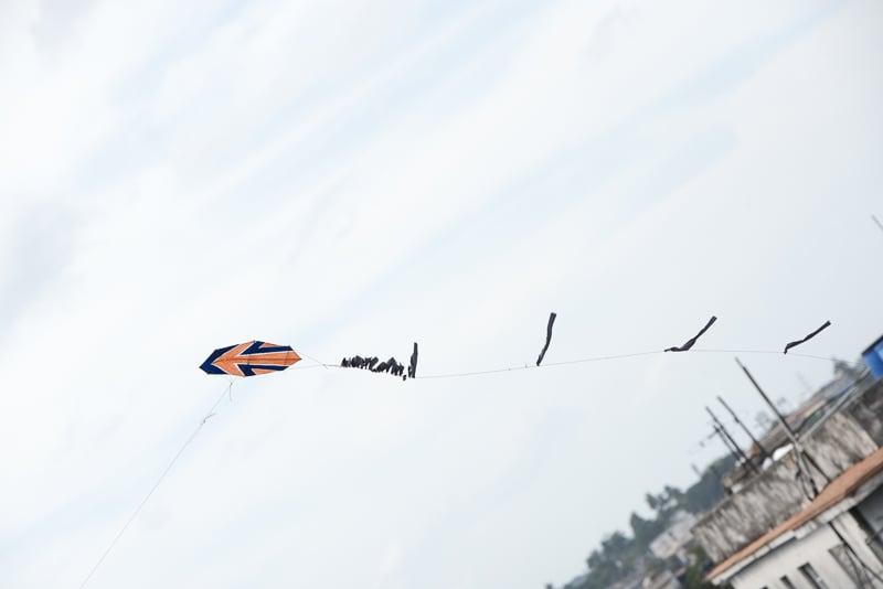 Flying kites. Havana, Cuba.