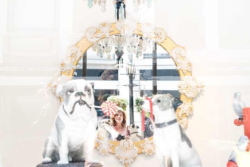 Self portrait in a Lladro mirror ...