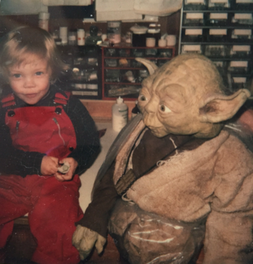 "Star Wars actor Mark Hamill last week shared family photos on StarWars.com of his son Nathan Hamill having a blast as a little kid on the set of ""Return of the Jedi."""