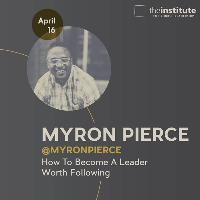 We've rescheduled @myronpierce !!! Mark your calendars! #church #leadership