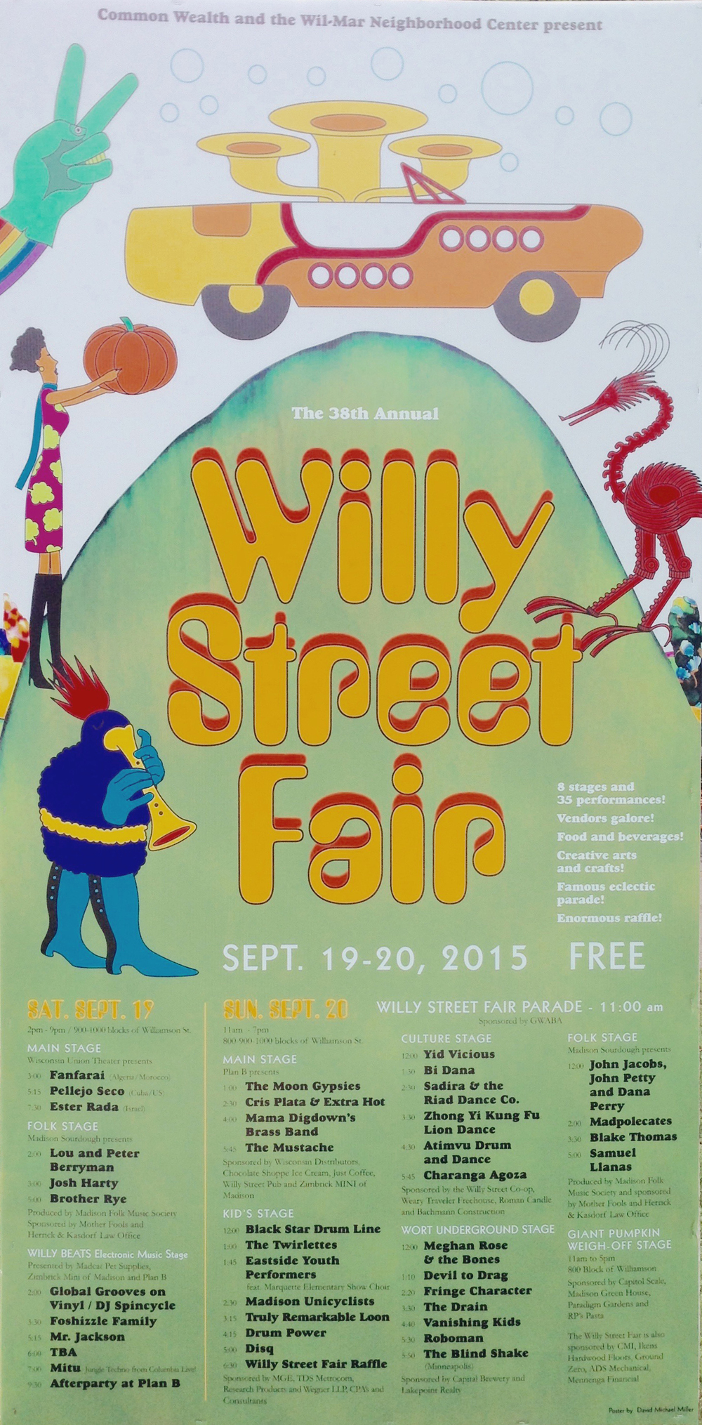 Fringe Character @ Willy Street Fair 2015