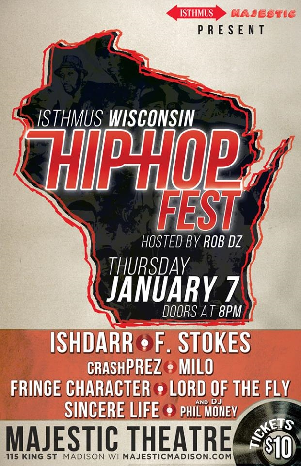Isthmus Wisconsin Hip Hop Fest 2016 @ Majestic Madison
