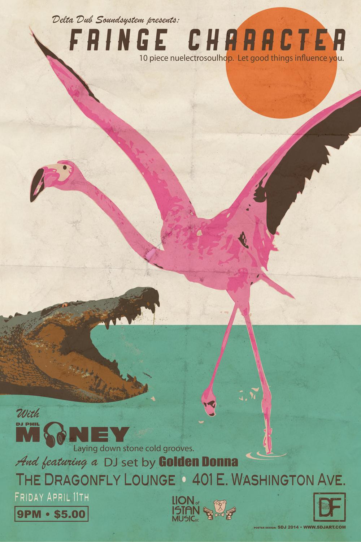 Dragonfly Lounge 4-11-14 Fringe Character DJ Phil Money DJ Golden Donna.jpg