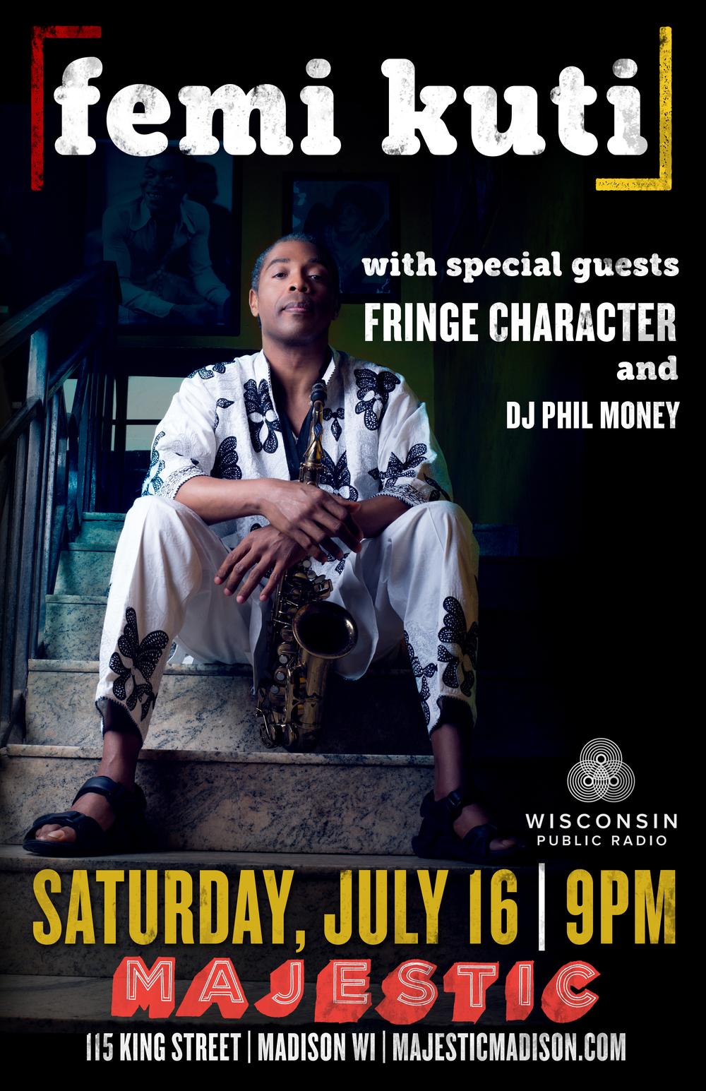 Femi Kuti   Fringe Character   DJ Phil Money