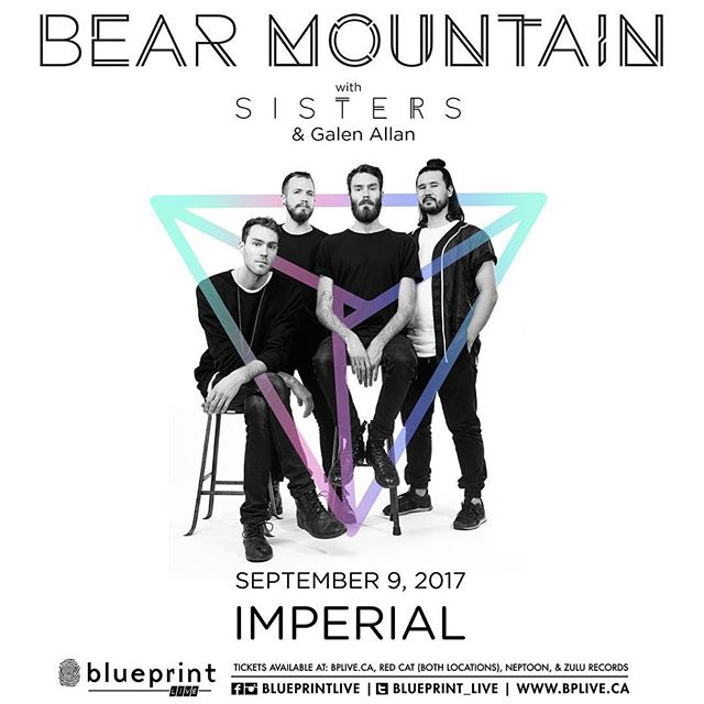Show announce! Vancouver September 9 @imperialvancouver. This is going to be a very special show for us, as it will be our last (for awhile) before the Bear goes into hibernation for a bit. Thank you guys for always supporting us and always creating a very special vibe at each and every show, we can't thank you enough. Tickets on sale tomorrow morning at 10am. Show supported by our very special friends @arrogahnz and @sisterstheband 🐻🙏🏼