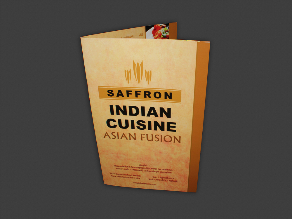 Menu | Saffron Indian Cuisine (closed)