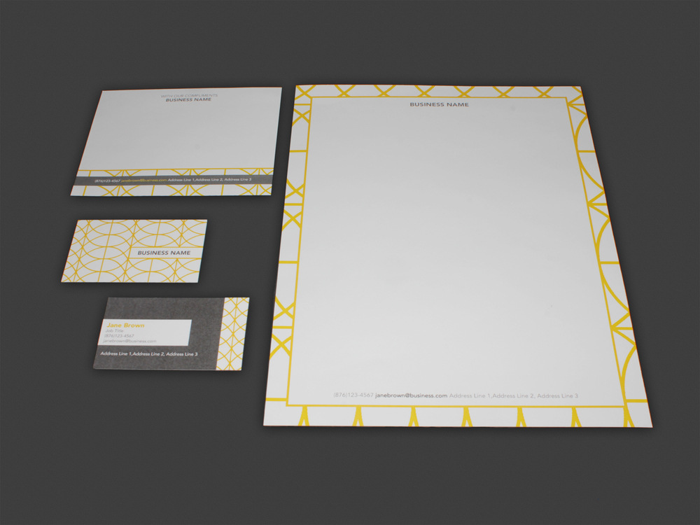Stationery Set - Letterhead + Comp. Slip + Business Cards