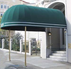 The Horizontal Stripes And Building Number Are On A Fixed Valance Elegant San Francisco Entrance Canopies
