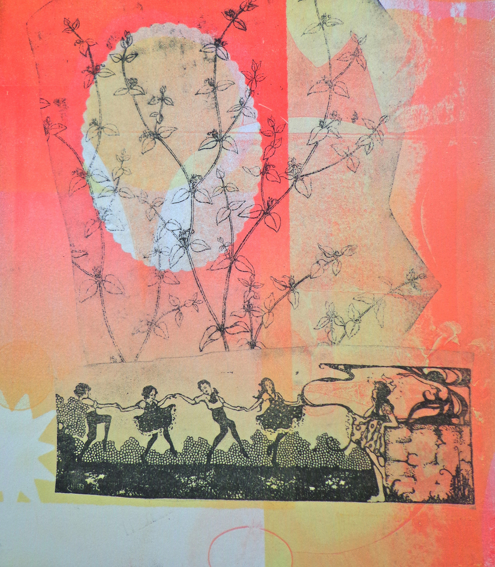 monotype with collage