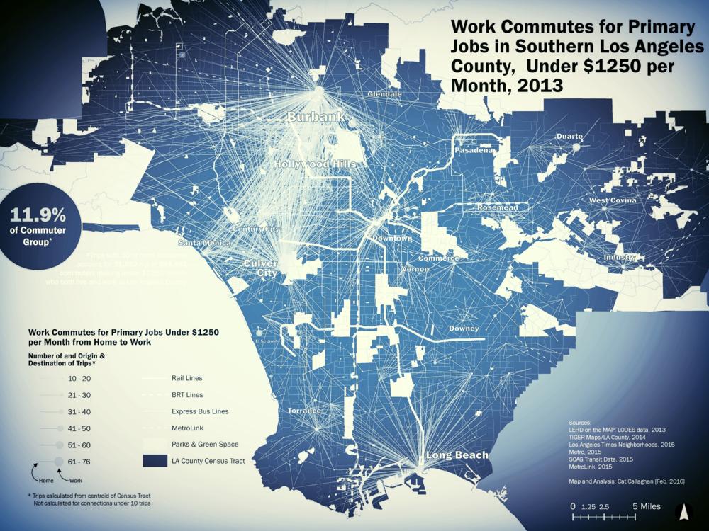 Spatial Inequalities of Rapid Transit, 2016 Los Angeles County, California