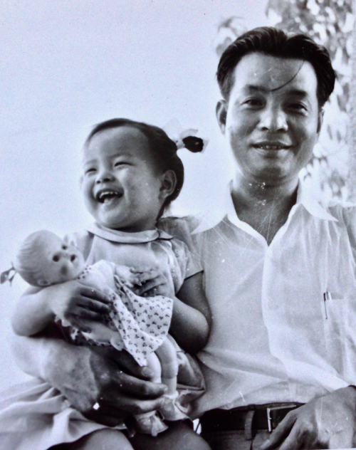 My mother, aged two, with her father Sima Wensen (司马文森), together in Hong Kong, in 1955.