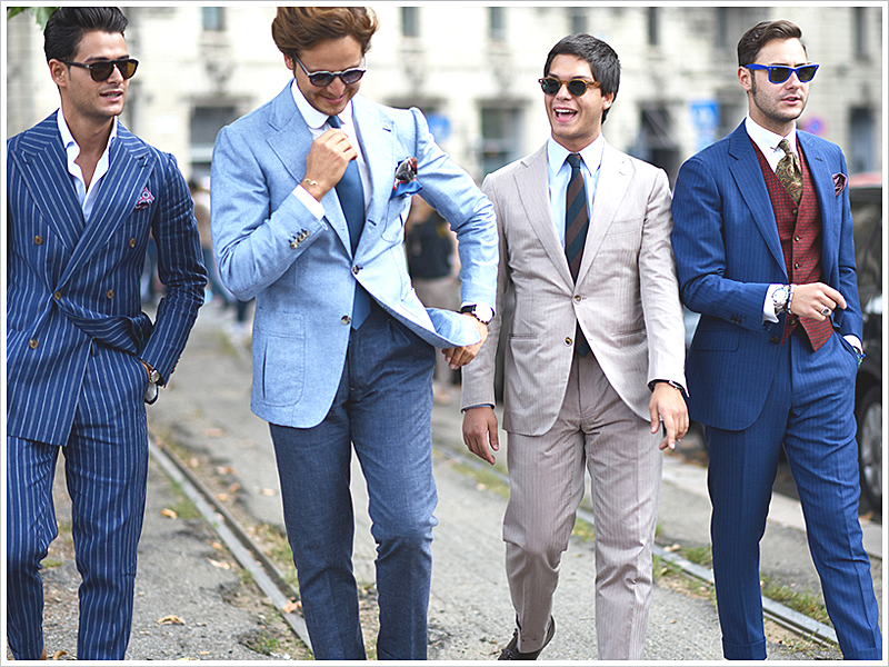 The stylish men from Pitti Uomo are bringing out their spring suits!