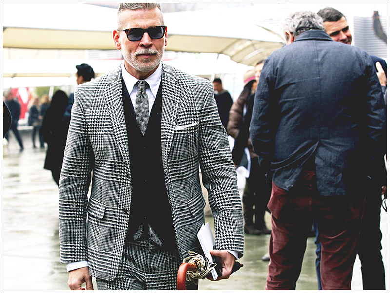 Nick Wooster knows patterns like no other! It's modest, yet sharp and clean.