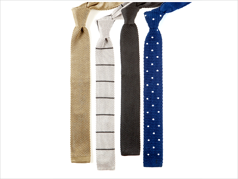 Knit ties are modern and charming in nearly every design!