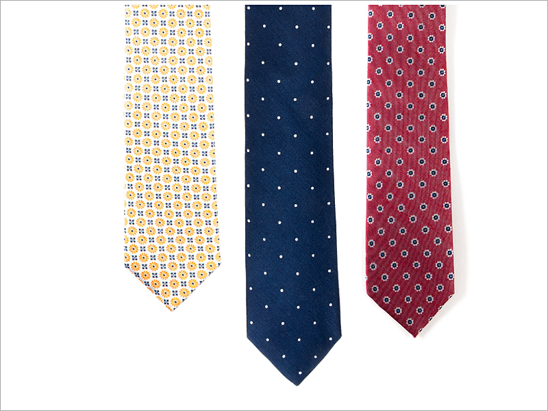 Stay classic and find what works for you when it comes to geometric ties!