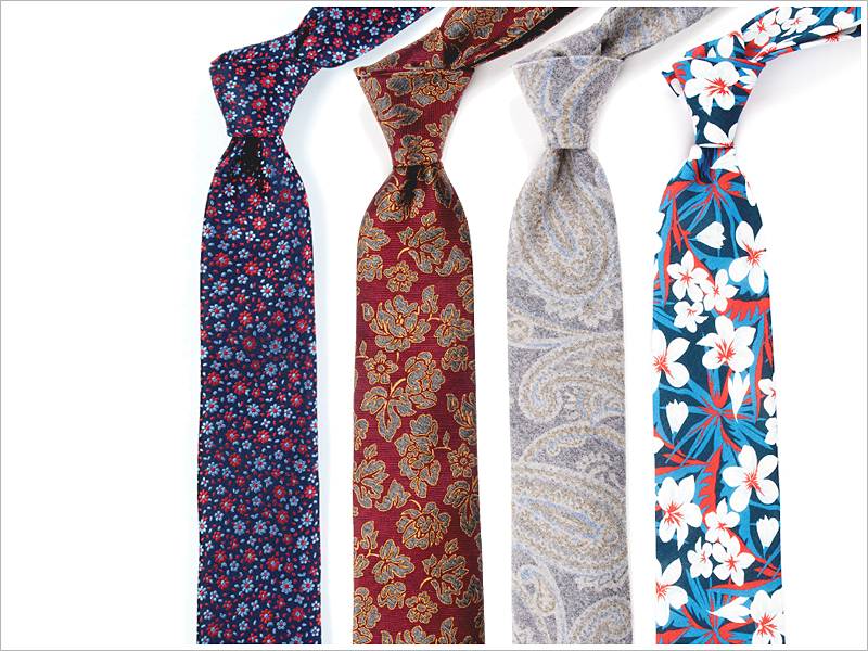 Have some fun, and keep it real, with some floral ties!