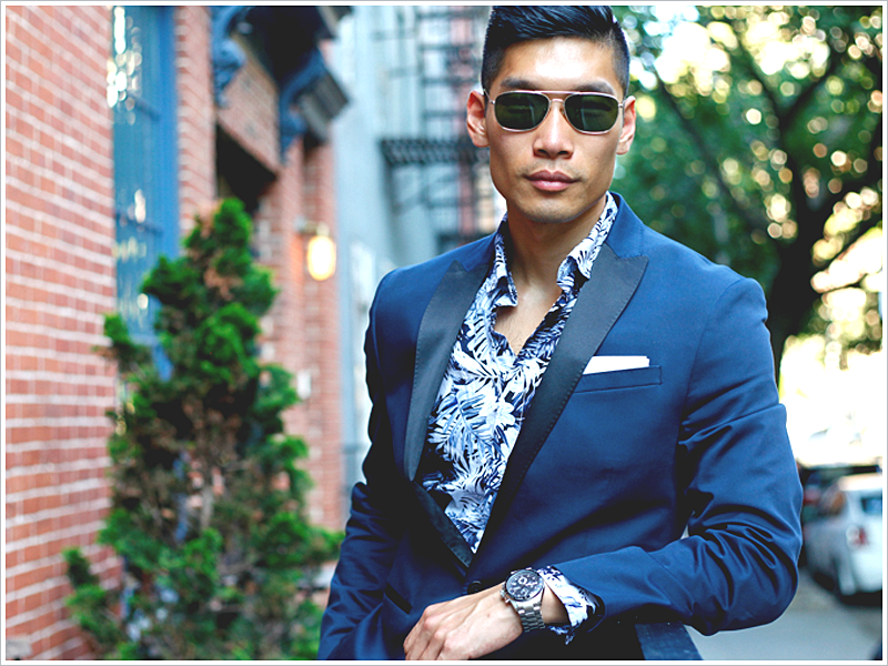 Leo Chan at Levitate Style // Focus: Hawaiian Shirt and Suit Jacket Combo