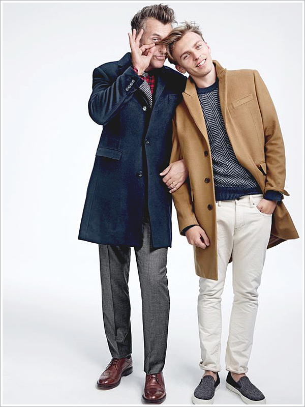 J. Crew // Focus: The length of modern day topcoat hits just above the knee!
