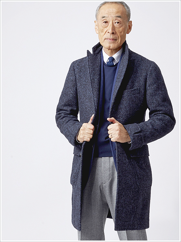 Mr. Noboru Kakuta // Focus: The mixed material of his coat that gives it texture and depth!