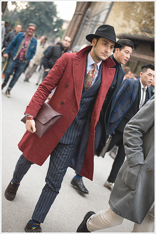 Pitti Uomo // Focus: This deep red color is also a color we provide at Kipper!