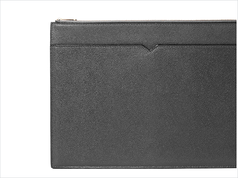Valextra's Pebble Grained Document Holder // Focus: Perfect for light, yet important, transport!