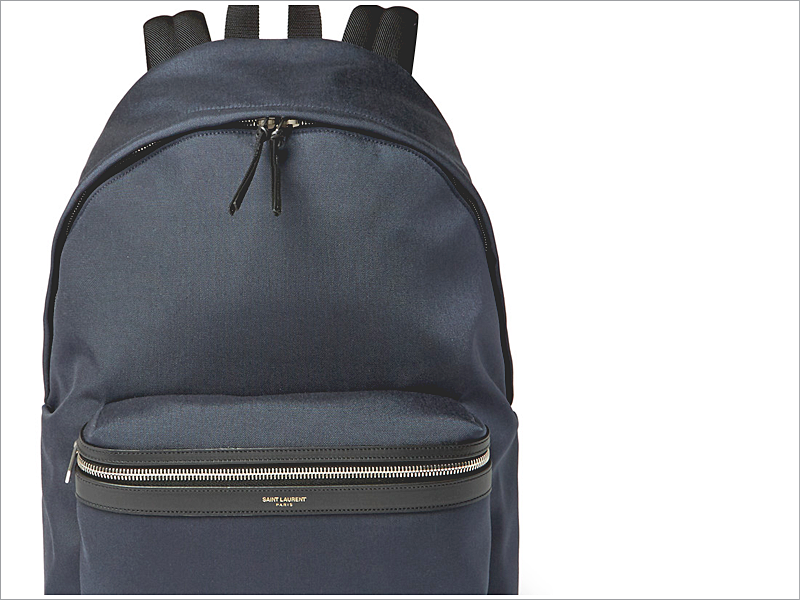 Saint Laurent Leather Trimmed Canvas Backpack // Focus: A simple, yet organized, design!