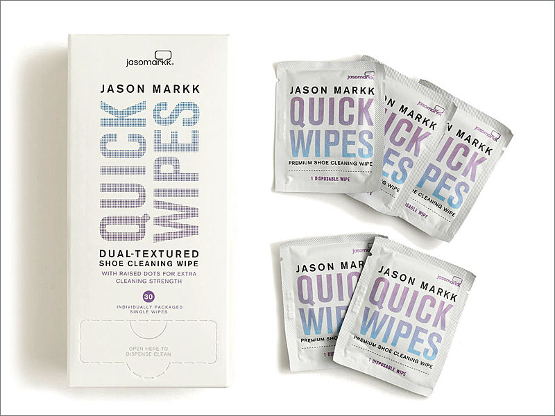Jason Markk Quick Wipes // Focus: Perfect for on the go cleaning.