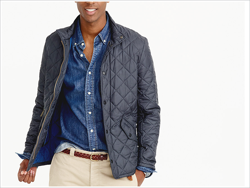 Barbour for J. Crew Quilted Down Jacket