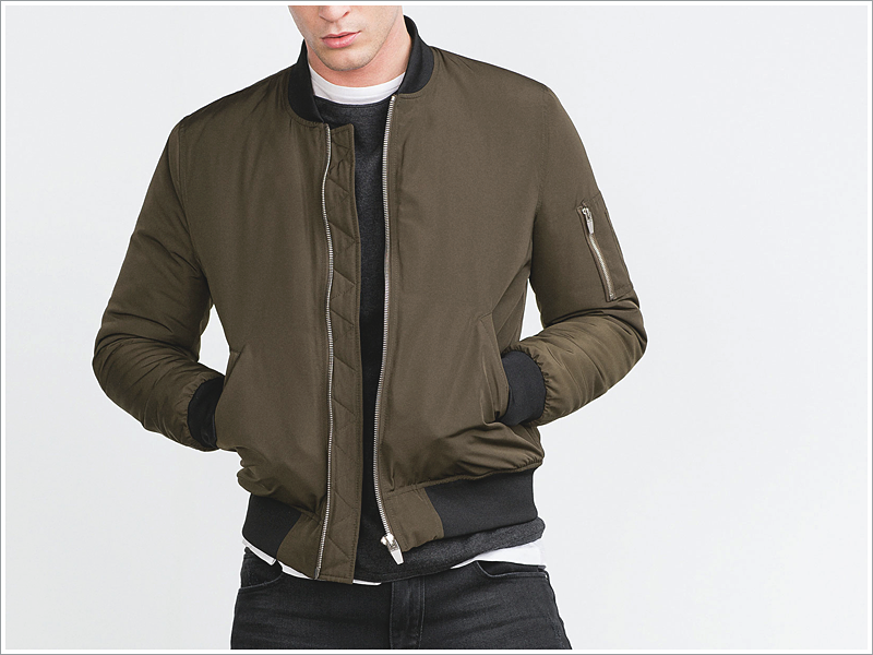 Zara Essential Bomber Jacket