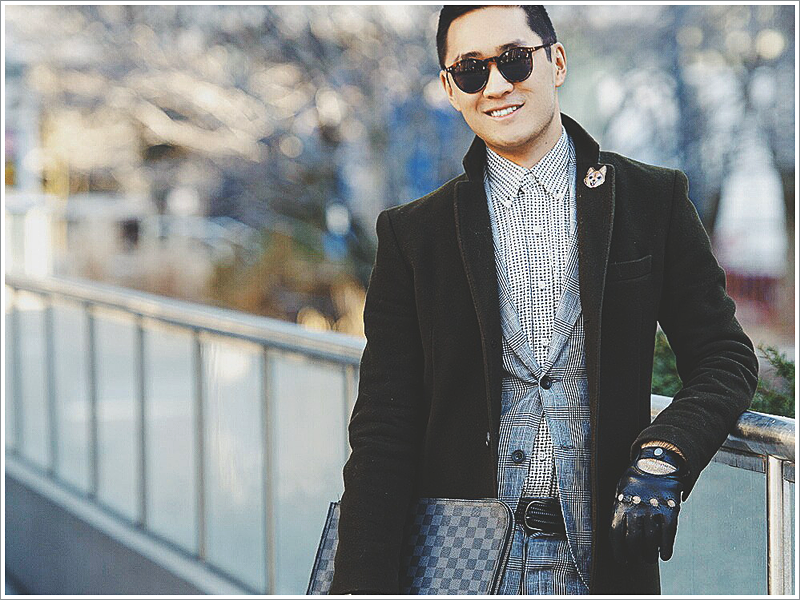 Blogger, Lance Chung, and his take on how to wear the Chesterfield coat