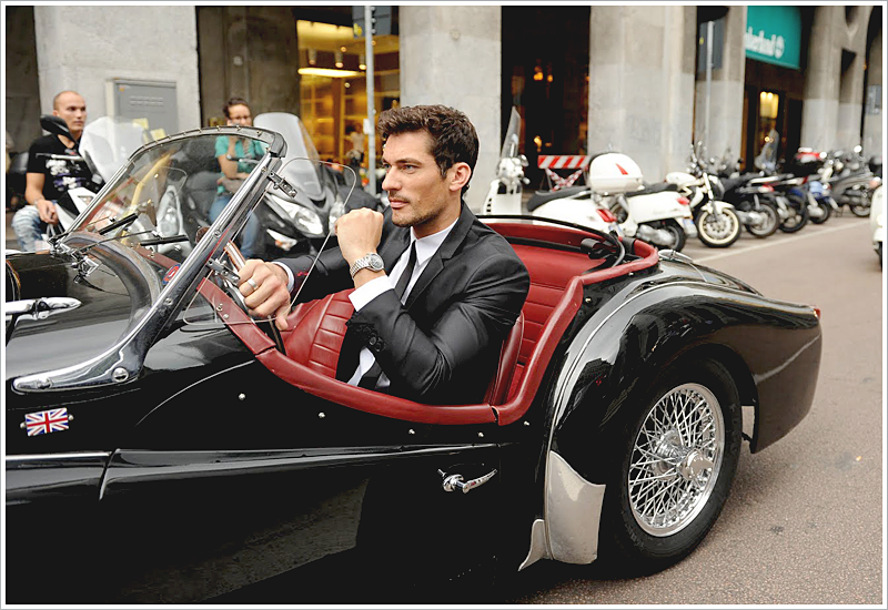 David Gandy's love for cars influences his laid-back, steadfast demeanor.