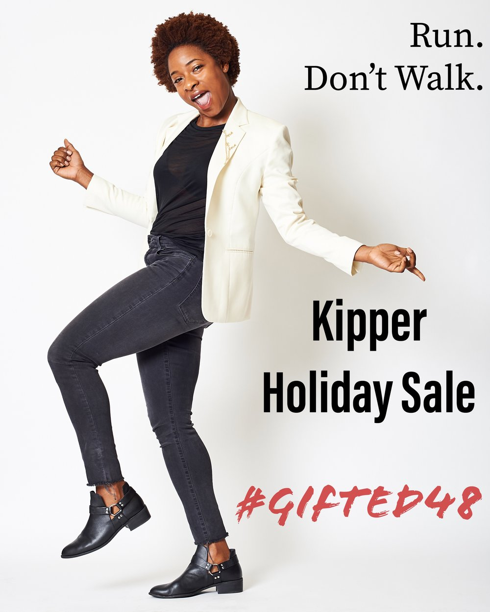 Enter code GIFTED48 for 1)  15% Off all Holiday Collections  2) Buy 1, Get 1 50% Off Site Wide at Kipper SF  - Sale ends Wednesday night.