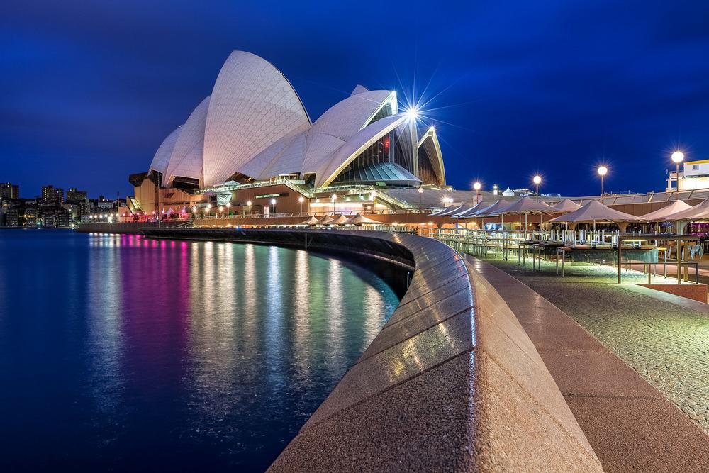 Sydney Opera house - Using Tungsten white balance.
