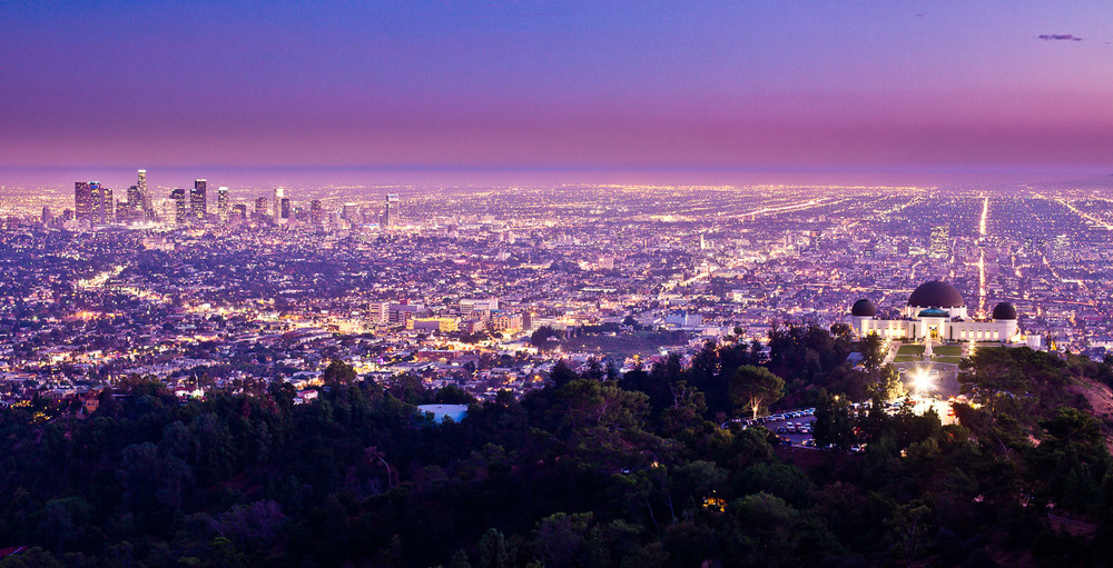 Griffith Observatory - Los Angeles CA - using a tripod, high up a hill in Griffith park.