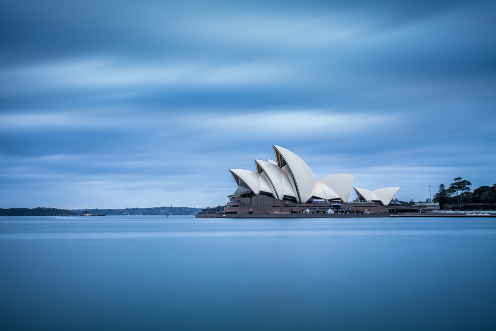 Syndey Opera House - shot using a 10 stop ND filter to blur the water and sky.