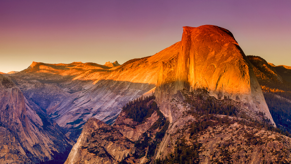 Half Dome Sunset - Yosemite