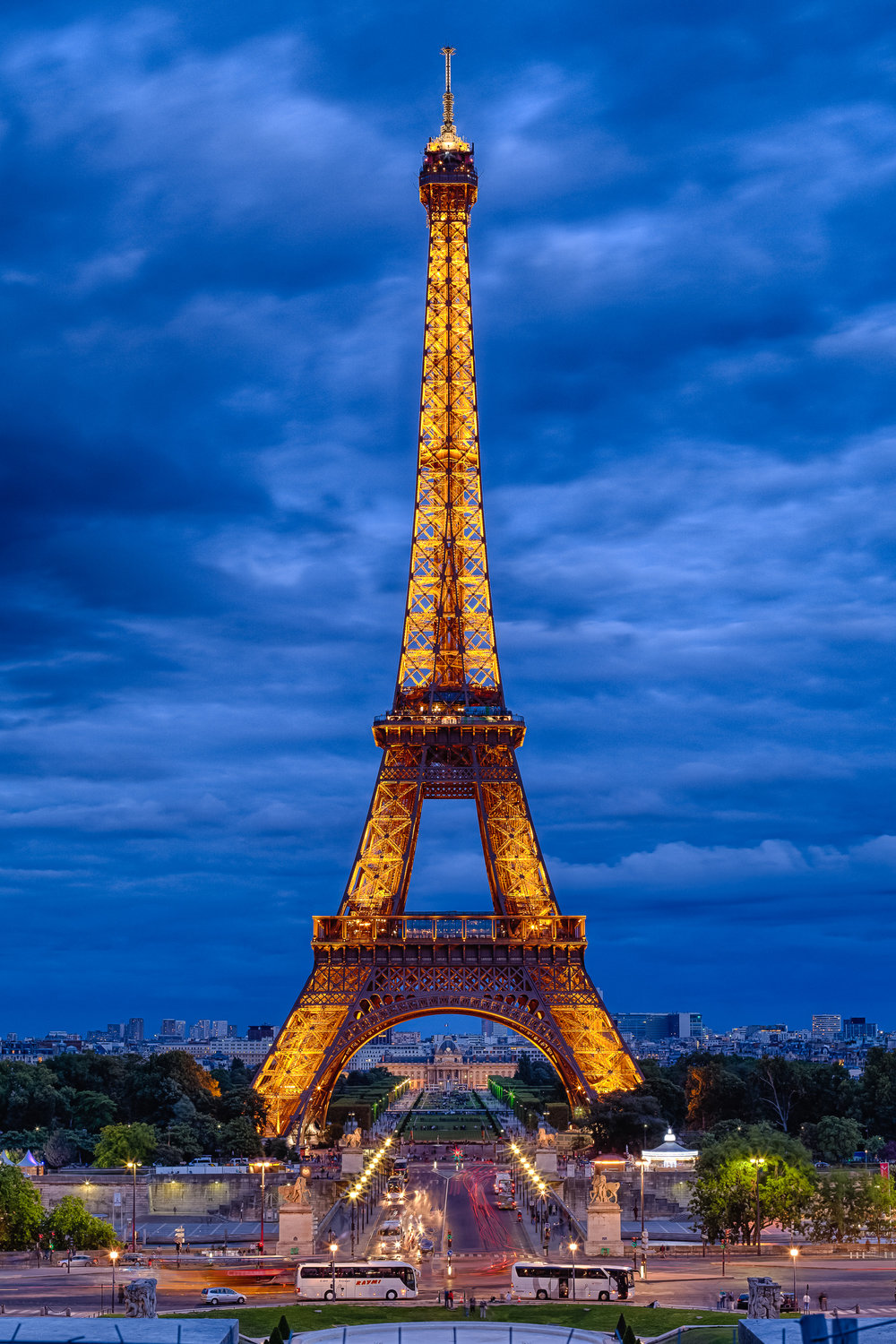 Eiffel Tower Blue - Paris France
