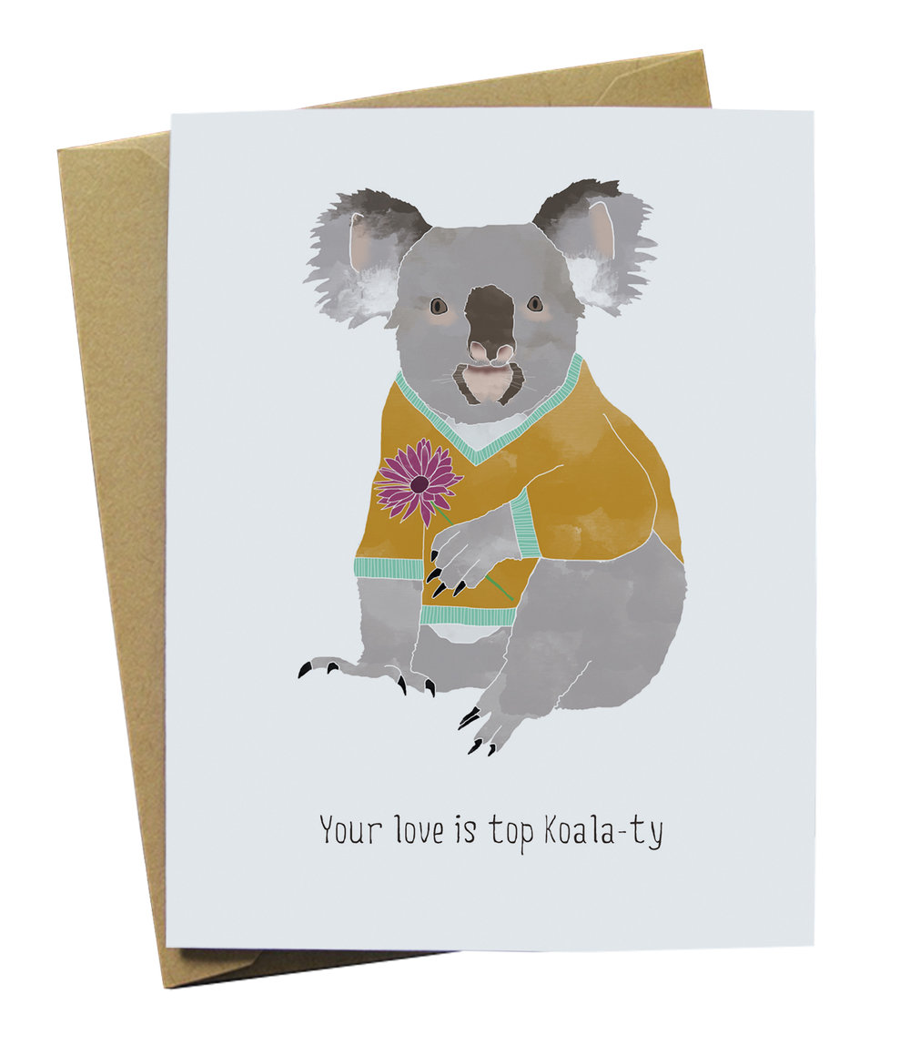 Your love is top koala ty paper wolf design your love is top koala ty m4hsunfo