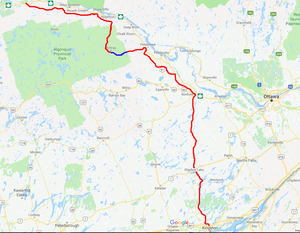Hard maple travel canadian shield mountain biking canoeing the canadian shield map of route sciox Images